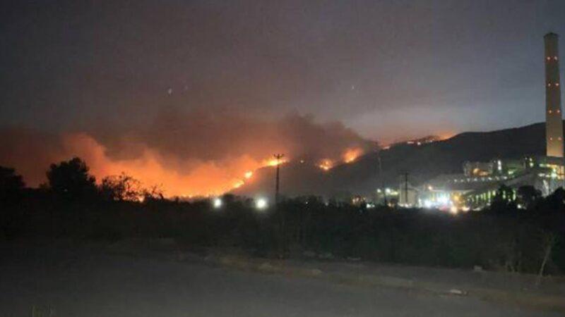Alevler termik santralin dibine geldi! Bölge boşaltılıyor
