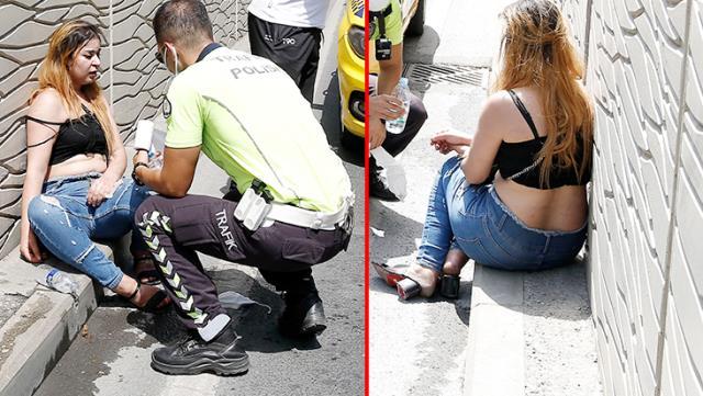 Taksiciyle tartışan turist sinir krizi geçirdi