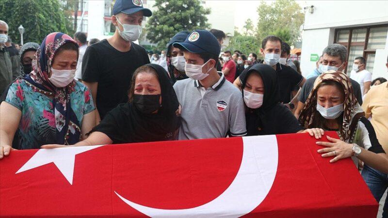 Düşen yangın söndürme uçağında yaşamını yitiren 3 Türk personel için tören