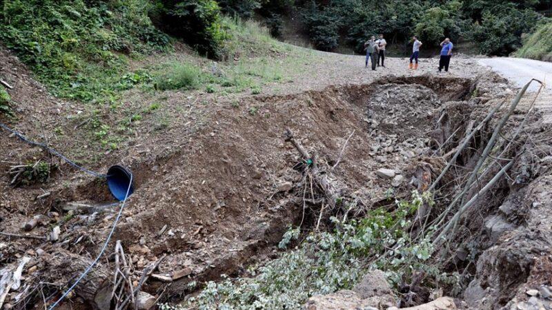 Bozkurt'un köylerinde sel felaketinin izleri ortaya çıktı