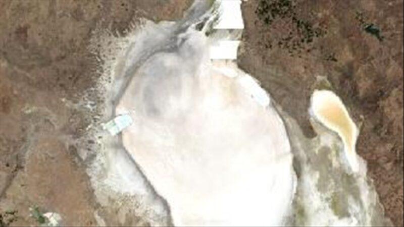 Tuz Gölü'ndeki kuraklık uydu görüntülerinde