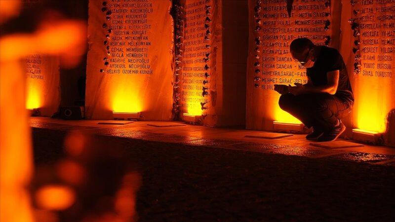 Marmara Depremi'nde hayatını kaybedenler törenle anıldı