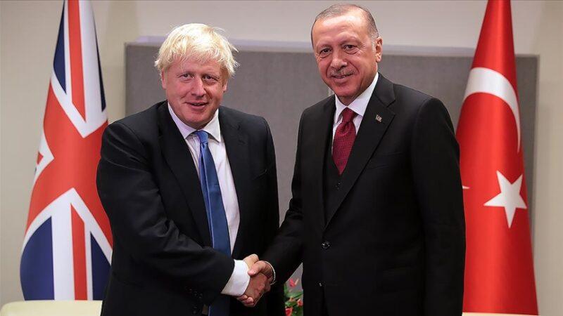 Cumhurbaşkanı Erdoğan, Boris Johnson ile görüştü