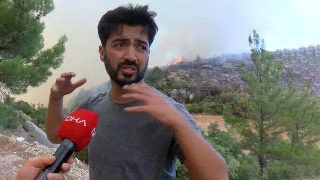 Yangın bölgesine giden Yusuf Güney, orman memurlarıyla tartıştığı için gözaltına alındı