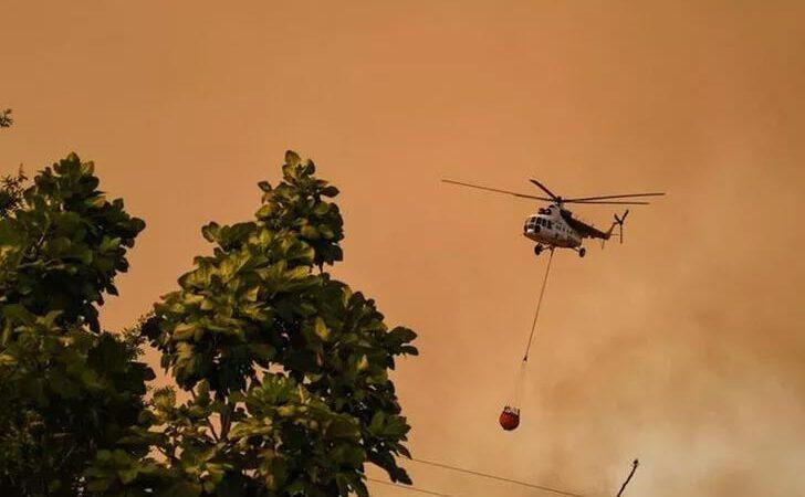 Yangın söndürme helikopteri düştü mü? Flaş açıklama