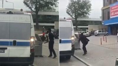 Bursa'da dehşet anları! Palayla saldırdı