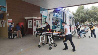 Bursa'da kamyonet motosiklete çarptı: Yaralılar var