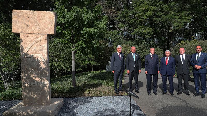 Göbeklitepe'nin dikilitaş replikası artık BM'de