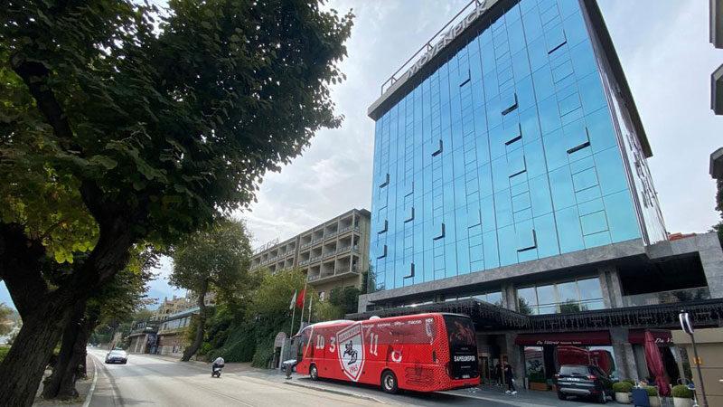 Y. Samsunspor, Mövenpick Bursa Hotel'de maç saatini bekliyor
