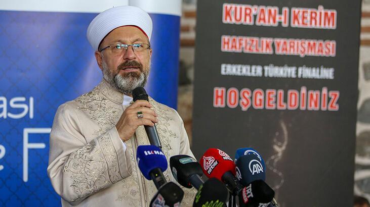 Diyanet İşleri Başkanı Erbaş: Mutlaka Kur'an'ın mesajlarını gündeme almak zorundayız