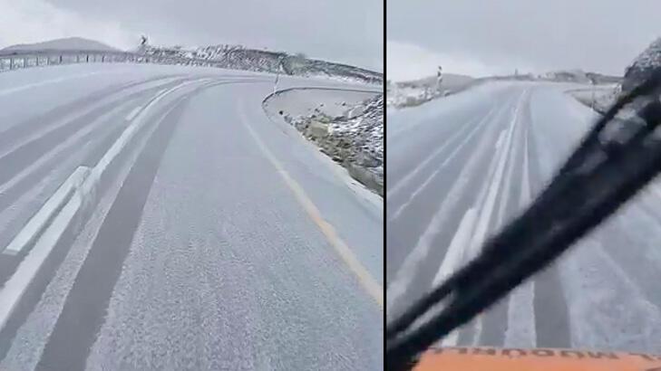 Erzurum'a ilk kar düştü!