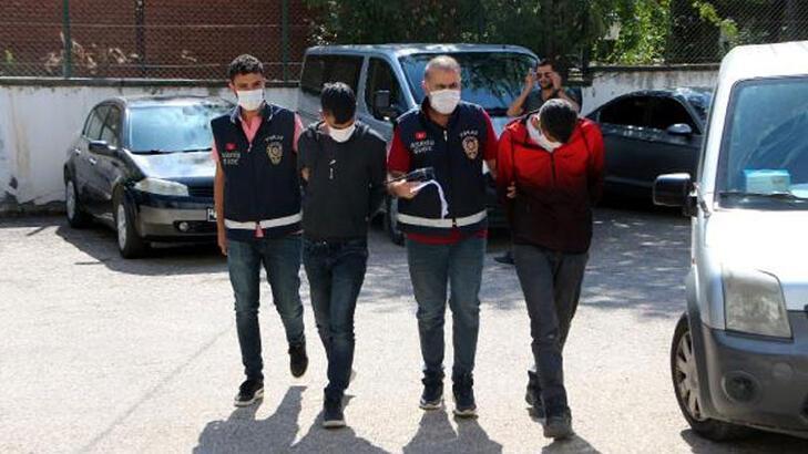 Hırsızlık şüphelileri 2 bin saatlik görüntü izlenerek yakalandı