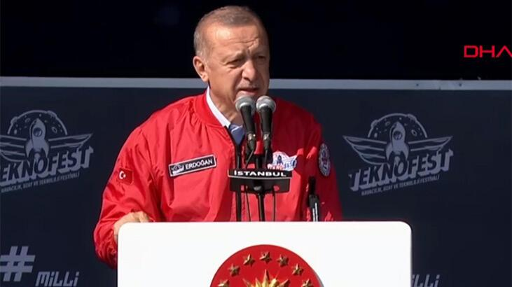 Cumhurbaşkanı Erdoğan'dan TEKNOFEST'te önemli açıklamalar