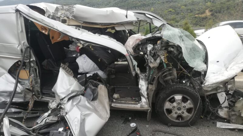 Bursa'da korkunç kazadan mucize kurtuluş!