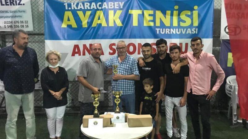 Ayak Tenisi Turnuvası sona erdi