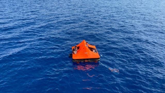 Marmaris açıklarında 11 düzensiz göçmen kurtarıldı