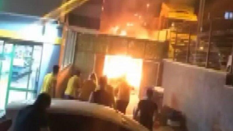Bursa'da markette yangın çıktı!