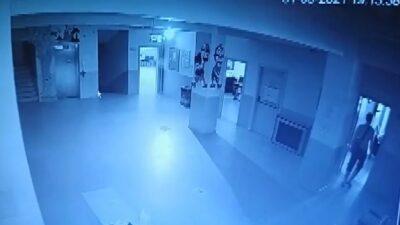 Bursa'da okul fareleri kameraya yakalandı
