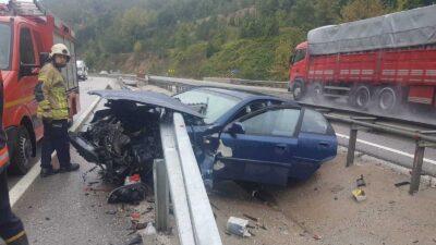 Bursa'da korkunç kaza! Ölümden döndüler