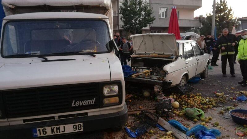 Bursa'da can pazarı! Otomobil pazara daldı…