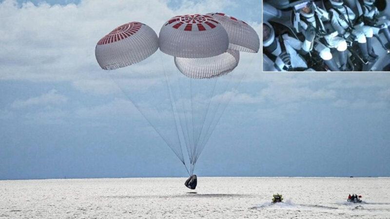 SpaceX ile uzaya giden ekip yolculuğu tamamladı