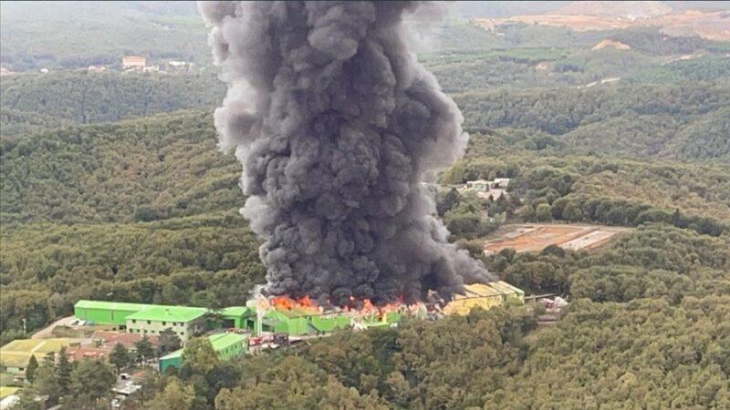Fabrika yangını! Kontrol altına alındı