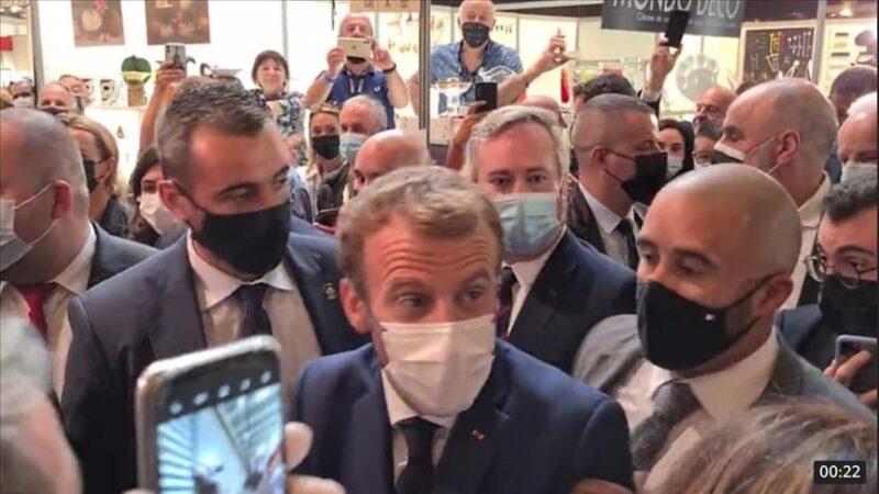 Macron'a yumurtalı saldırı