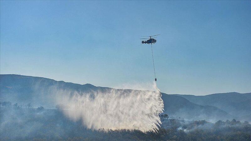 Tunceli'deki Zel Dağı kırsalında çıkan örtü yangını kontrol altına alındı