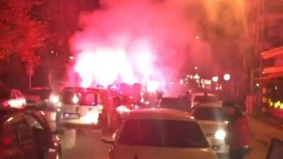 Bursa'da pes dedirten görüntüler! Yolu kapatıp…