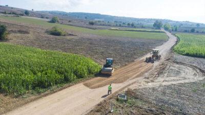 İnegöl'de arazi yollarına kalıcı çözümler üretiliyor