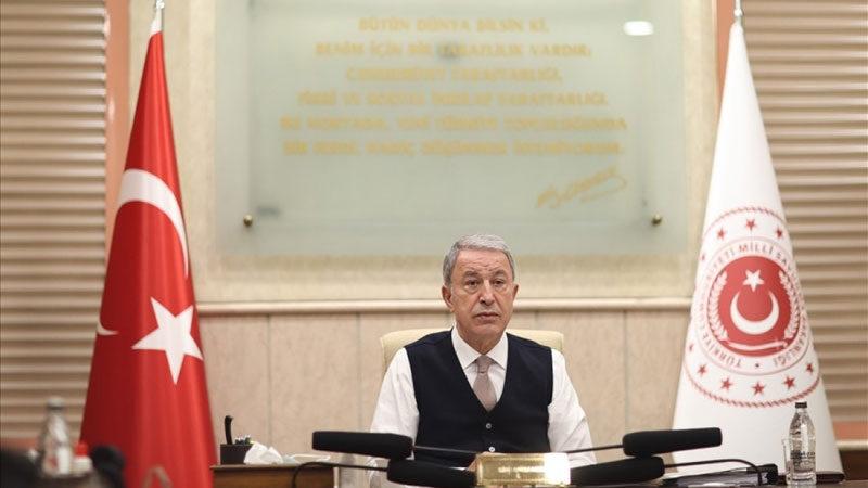 Bakan Akar birlik komutanlarıyla online toplantı yaptı