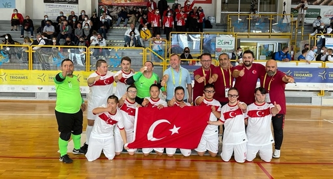 Down Sendromlular Futsal Milli Takımı şampiyon