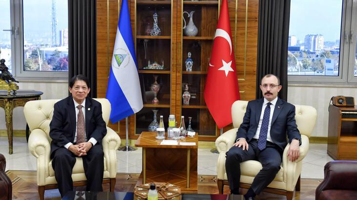 Bakan Muş, Nikaragua Dışişleri Bakanı Colindres ile görüştü