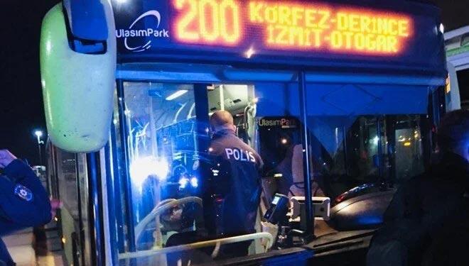 Koronavirüs hastası otobüsten inmeyi reddetti