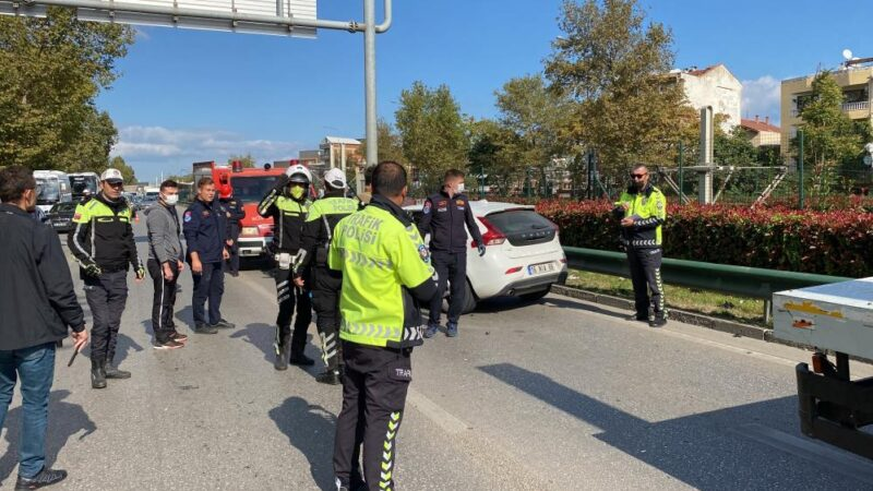 Bursa'da trafiği felç eden kaza