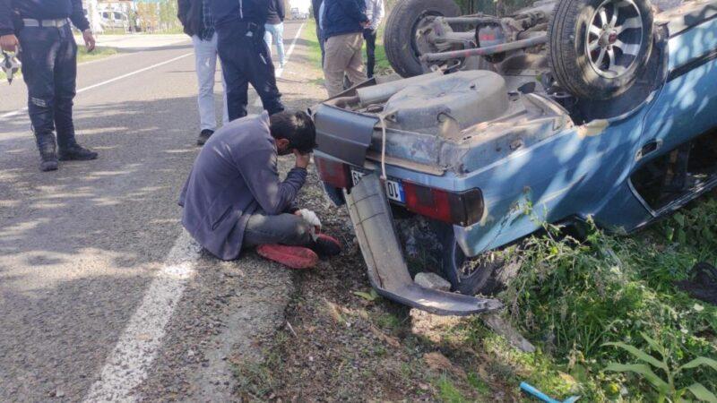 Bursa'da feci kaza! Aracının başında gözyaşı döktü