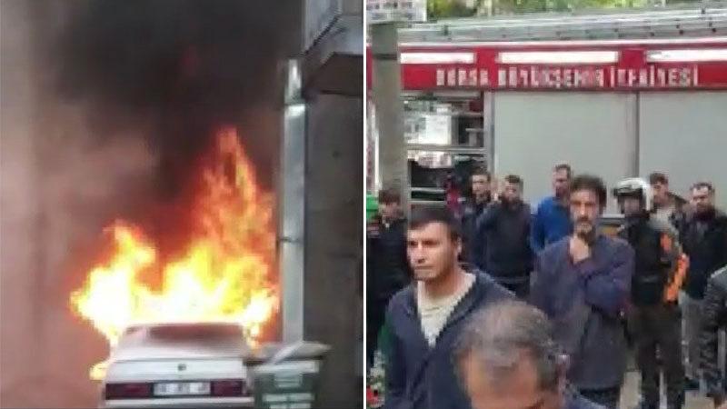 Bursa'da sokak ortasında panik anları! Film gibi izlediler