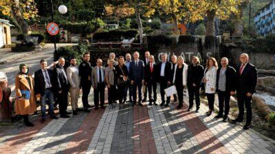 Başkan Taban köşe yazarlarıyla buluştu