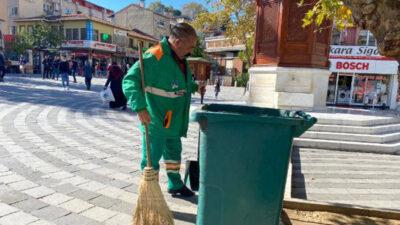 Bursa'da temizlik görevlisinden örnek davranış