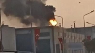 Bursa'da fabrikada yangın