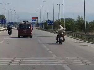 Bursa'da tehlikeli yolculuk kameraya böyle yansıdı