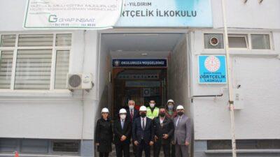 Bursa'da okul inşaatları hız kesmeden devam ediyor