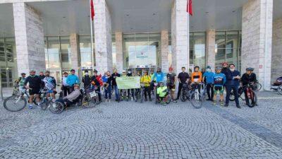 Bursa'da pedallar SMA hastası Mehmet Ayaz için döndü