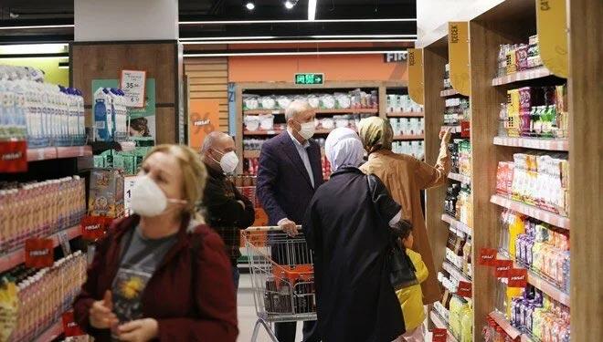 Cumhurbaşkanı Erdoğan'dan market ziyareti: Talimatı verdik