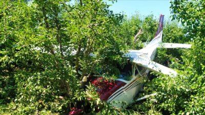 Bursa'da meyve bahçesine acil iniş yapmıştı! Yeni gelişme