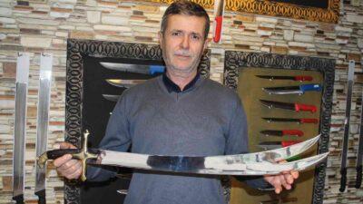 Bursa'da yenilmez kahramanların kılıçları böyle yapılıyor