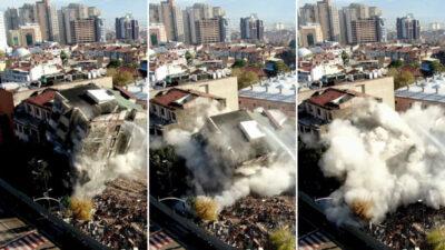Görüntüler Bursa'dan… Saniyeler içinde böyle yerle bir oldu